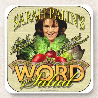 Sarah Palin's WORD Salad Beverage Coaster