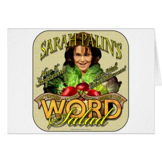 Sarah Palin's WORD Salad Card