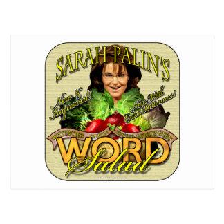 Sarah Palin's WORD Salad Postcard