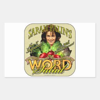 Sarah Palin's WORD Salad Rectangular Sticker