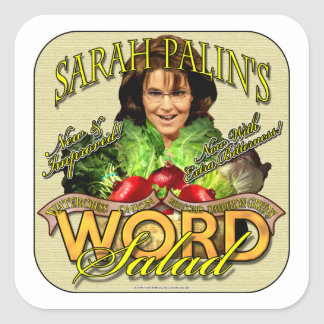 Sarah Palin's WORD Salad Square Sticker