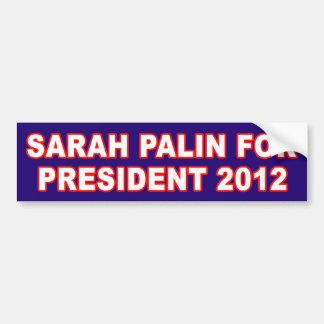Sarah Pallin para el presidente pegatina para el p Pegatina Para Auto