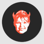 Sarah Satan Round Sticker