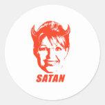 SARAH SATAN ROUND STICKERS