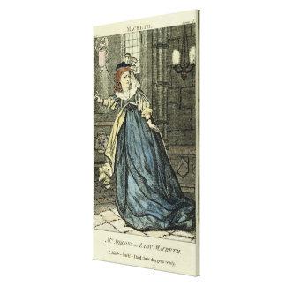 Sarah Siddons como señora Macbeth Impresion De Lienzo