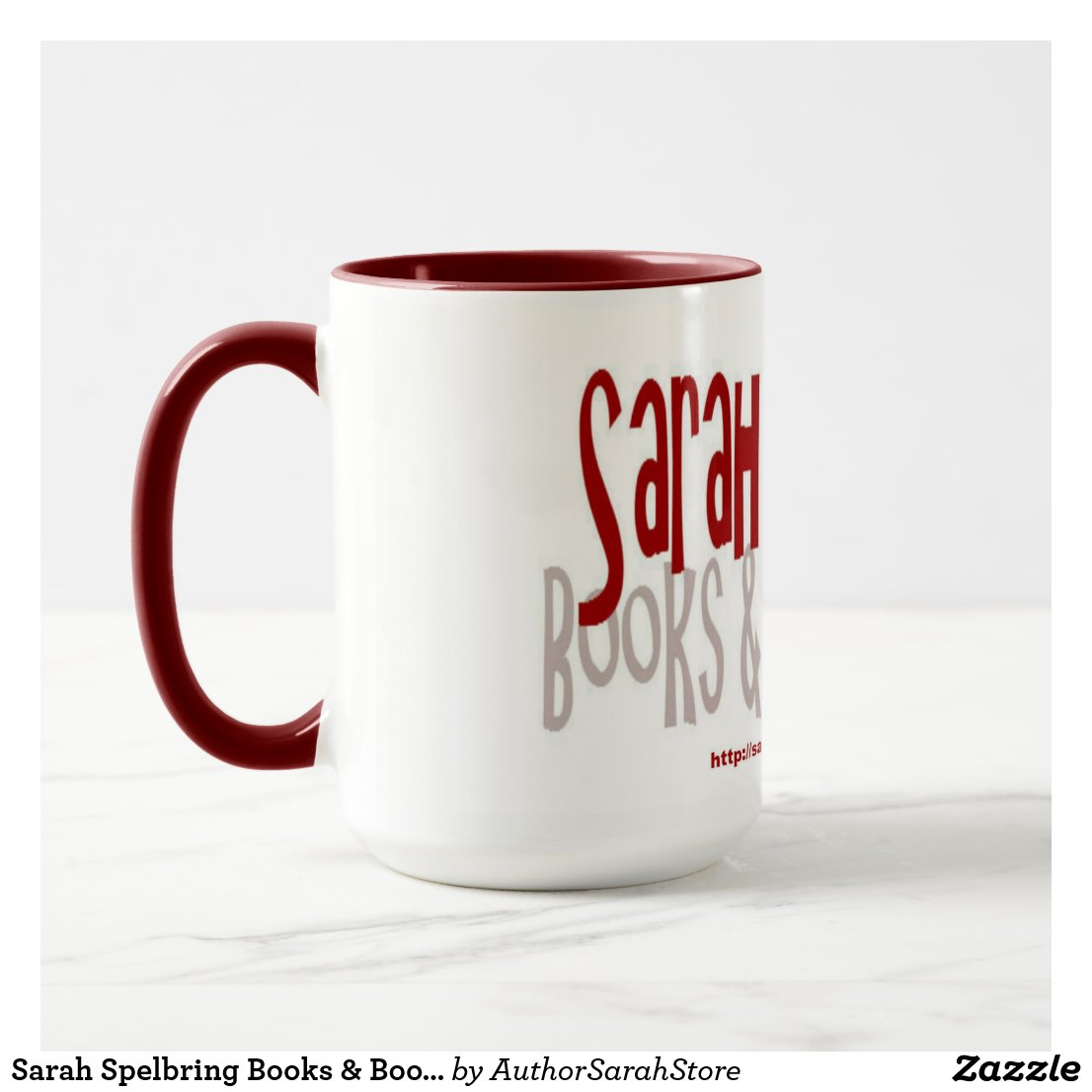 Sarah Spelbring Books & Book Reviews Mug (Red)