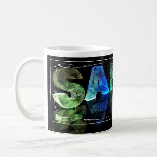 Sarah  - The Name Sarah in 3D Lights (Photograph) Coffee Mug