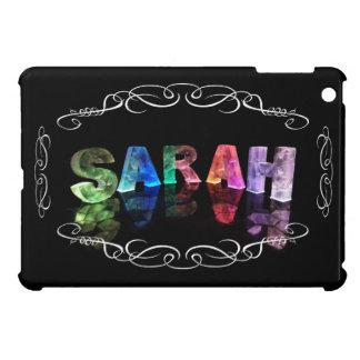 Sarah  - The Name Sarah in 3D Lights (Photograph) iPad Mini Case