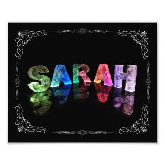 Sarah  - The Name Sarah in 3D Lights (Photograph) Photo Print