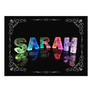 Sarah  - The Name Sarah in 3D Lights (Photograph)
