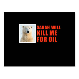 Sarah will kill me for oil post card