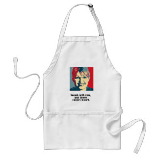 Sarah will run, but these colors won't adult apron