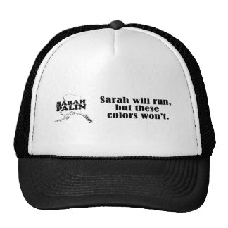 Sarah will run, but these colors won't trucker hat