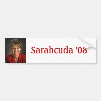 Sarahcuda '08 pegatina para auto