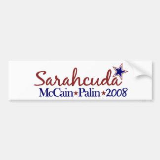 Sarahcuda (McCain Palin 2008) Pegatina Para Auto