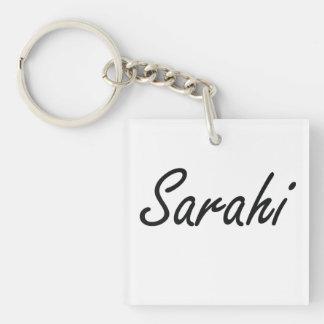 Sarahi artistic Name Design Single-Sided Square Acrylic Keychain
