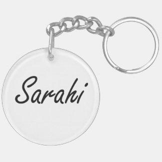 Sarahi artistic Name Design Double-Sided Round Acrylic Keychain