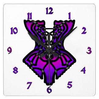 Sarah's Corset Square Wall Clocks