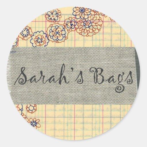 Sarahs empaqueta al pegatina