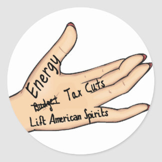 sarah's hand classic round sticker