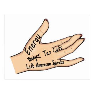 sarah's hand postcard