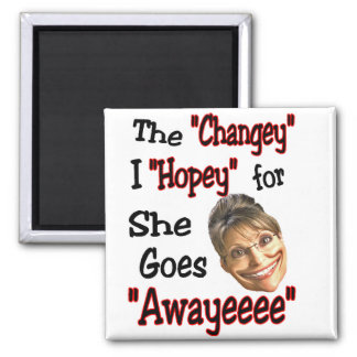 Sarah's Hopey Changey Agenda 2 Inch Square Magnet