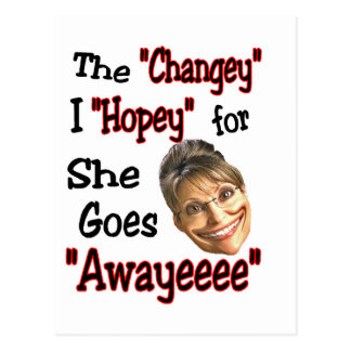 Sarah's Hopey Changey Agenda Postcard