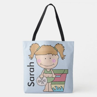 Beach Themed Sarah's Personalized Beach Tote