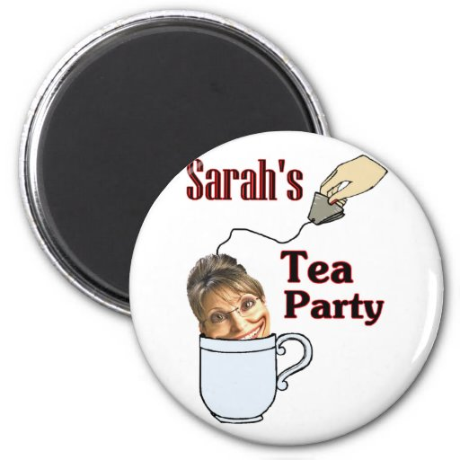 Sarah's Tea Party Refrigerator Magnet