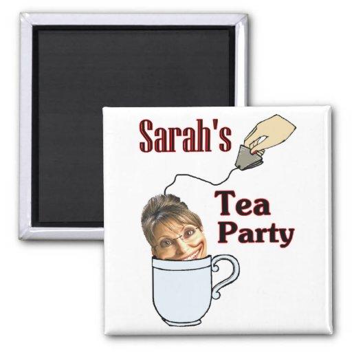 Sarah's Tea Party Magnets