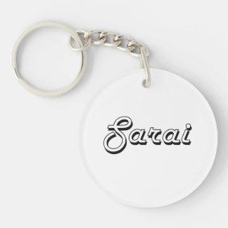 Sarai Classic Retro Name Design Single-Sided Round Acrylic Keychain