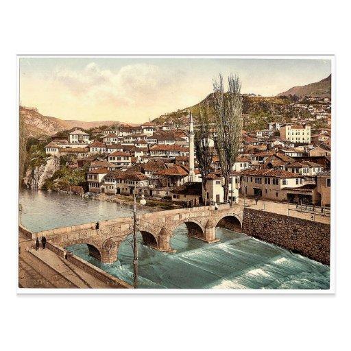 Sarajcvo (i.e., Sarajevo), looking toward Alifakov Post Cards