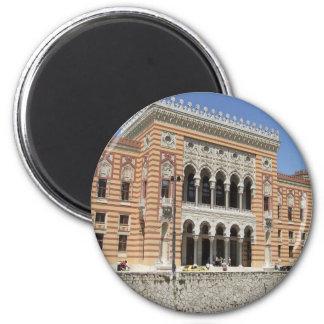 Sarajevo - City Hall 2 Inch Round Magnet