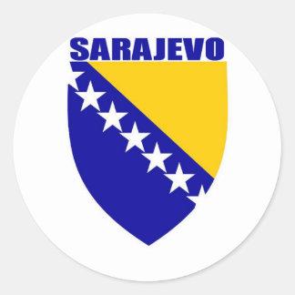 Sarajevo Classic Round Sticker