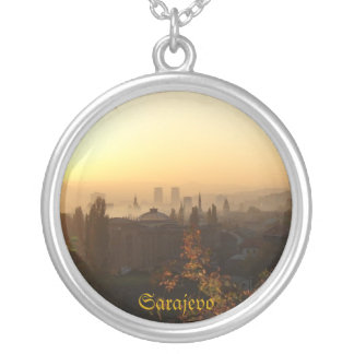 Sarajevo in the morning silver plated necklace