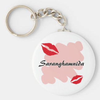 Saranghamnida - coreano te amo llavero redondo tipo pin