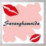 Saranghamnida - Korean I love you Poster