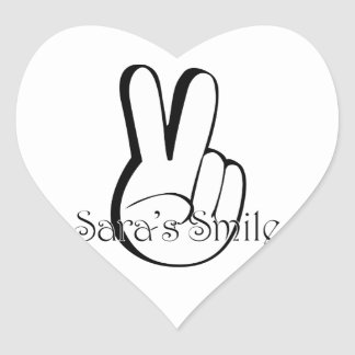 Sara's Smile Suicide Awareness Gear Heart Sticker