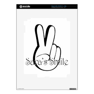 Sara's Smile Suicide Awareness Gear Skins For The iPad 2