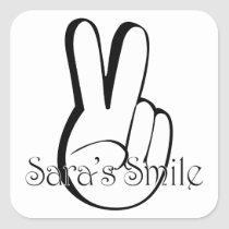 Sara's Smile Suicide Awareness Gear Square Sticker
