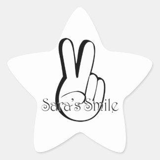 Sara's Smile Suicide Awareness Gear Star Sticker