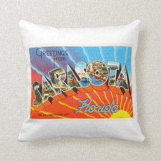 Sarasota Florida FL Old Vintage Travel Souvenir Throw Pillow