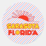 Sarasota, Florida Round Sticker