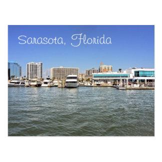 Sarasota, Florida skyline from the bay. Postcard