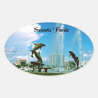 Sarasota Florida Oval Sticker