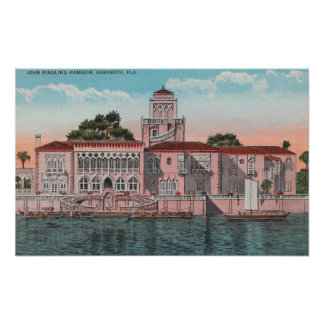 Sarasota, Florida - View of John Ringling Poster