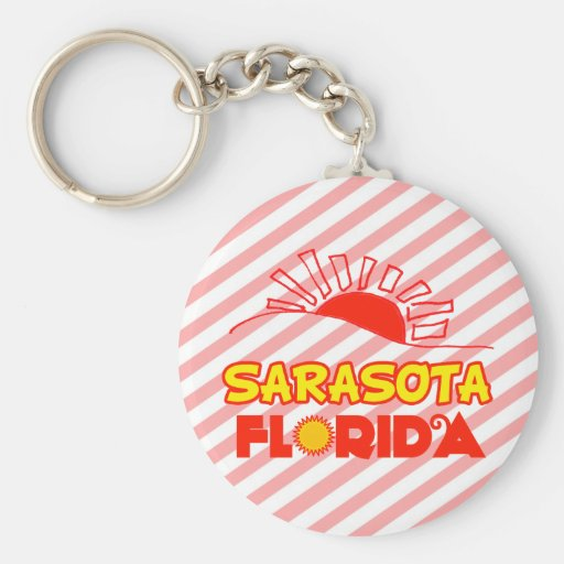 Sarasota, la Florida Llavero Redondo Tipo Pin