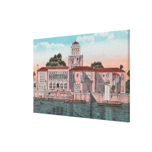 Sarasota, la Florida - opinión Juan Ringling Lienzo Envuelto Para Galerías