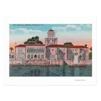 Sarasota, la Florida - opinión Juan Ringling Tarjeta Postal