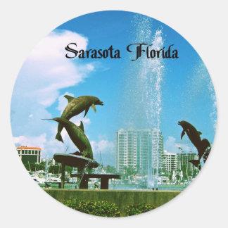 Sarasota la Florida Pegatina Redonda